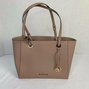 Michael Kors Walsh Leather Tote Bag Blush Pink